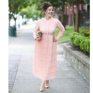 628fccc97668 Dainty Jewells Love Comes Softly Pink Lace Dress S